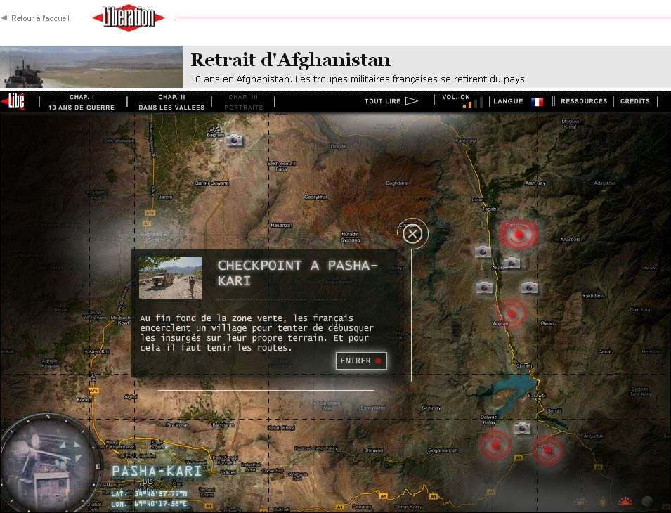 Webdoc Afghanistan sur Libration