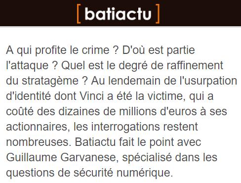 Intervention Batiactu sécurité numérique